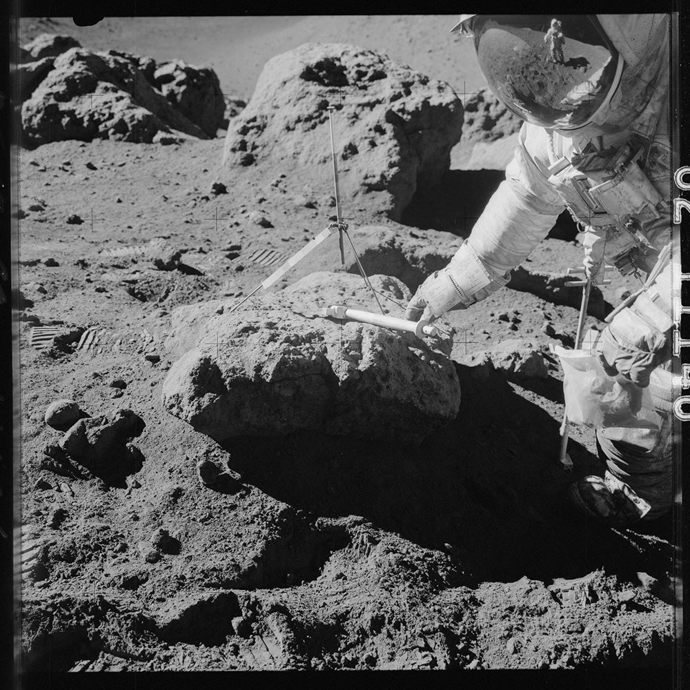 collecting moon samples