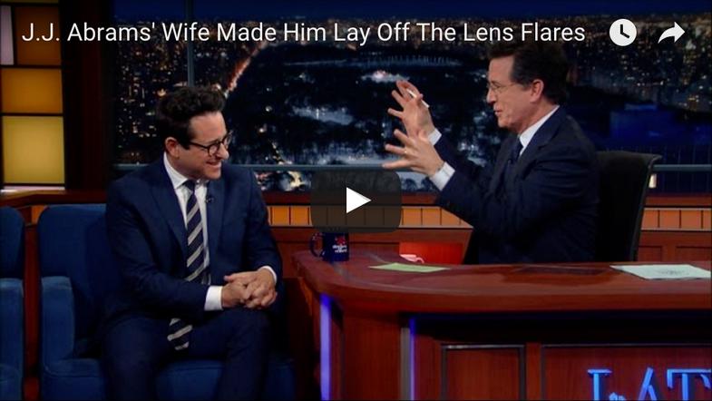 J.J. Abrams's Wife Shames him for lens flare