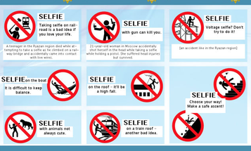Russia Launches Campaign For Safer Selfies