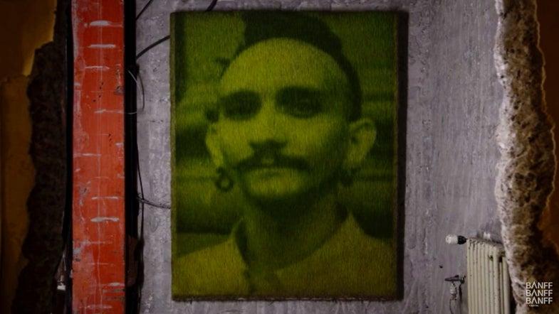 Printing photos on grass