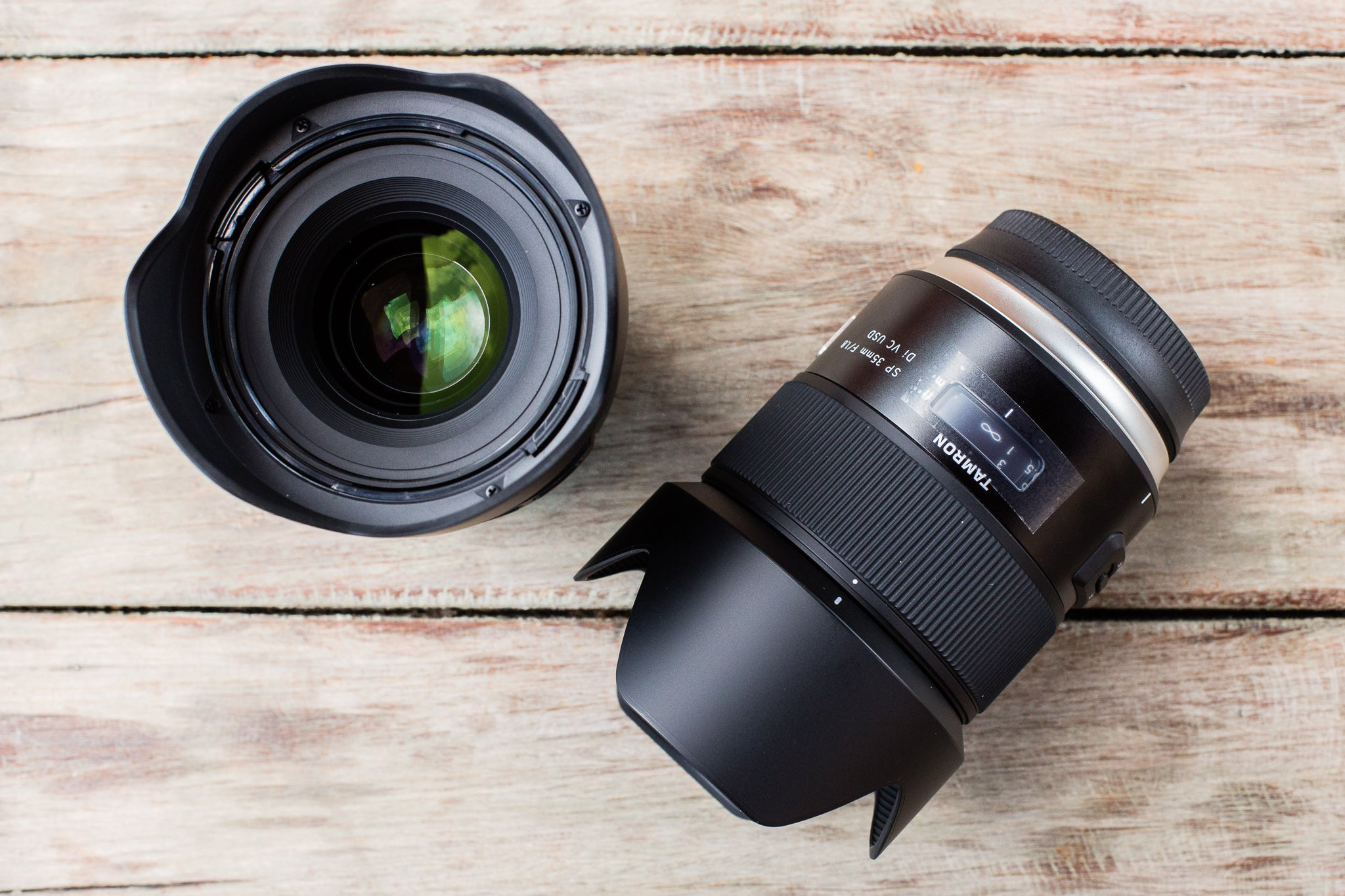 Tamron's SP 35mm f/1.8 and SP 45mm f/1.8 Close-Focusing Lenses Are Its First Fast Primes