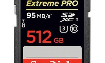 New Gear: SanDisk Announces 512 GB Extreme Pro SDXC Memory Card