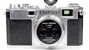 Stereo Nikkor 3D Nikon Camera up for auction on eBay