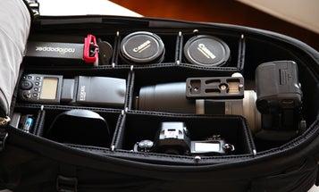 The TrekPak Camera Bag Insert Swaps Velcro For Pins