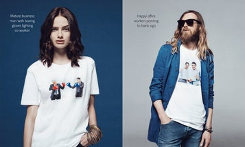 Adobe's Clever Marketing Campaign Turns Cliche Corny Stock Photography Into A Clothing Line