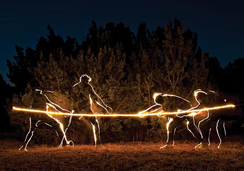 tug of war with a rope light