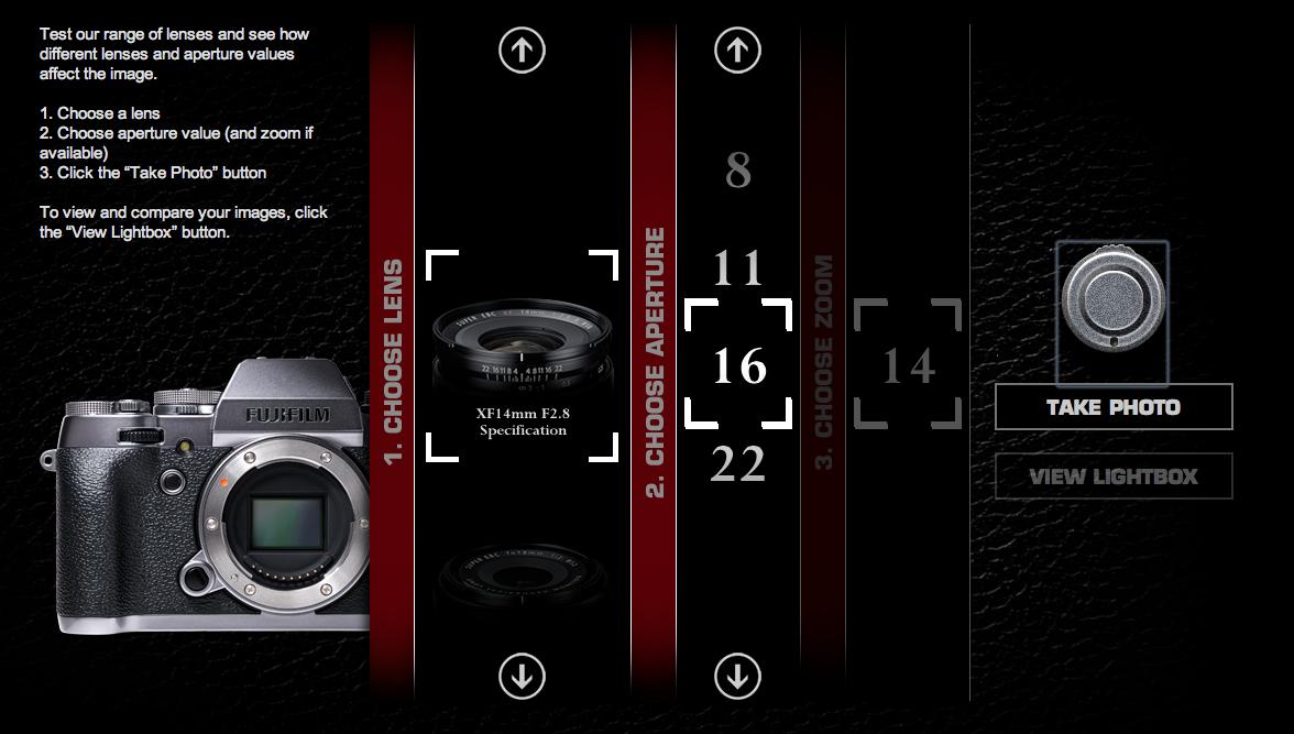 Fujifilm Virtual Lens Demo