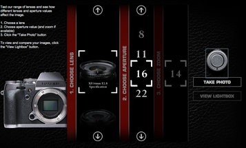 Fujifilm Site Lets You Take a Virtual Test Drive of All X-Series Lenses
