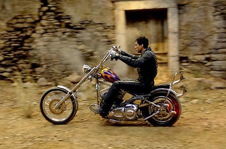 """Actor-Nicolas-Cage-rides-through-the-fictional-tow"""