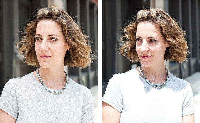 woman in direct vs indirect sunlight