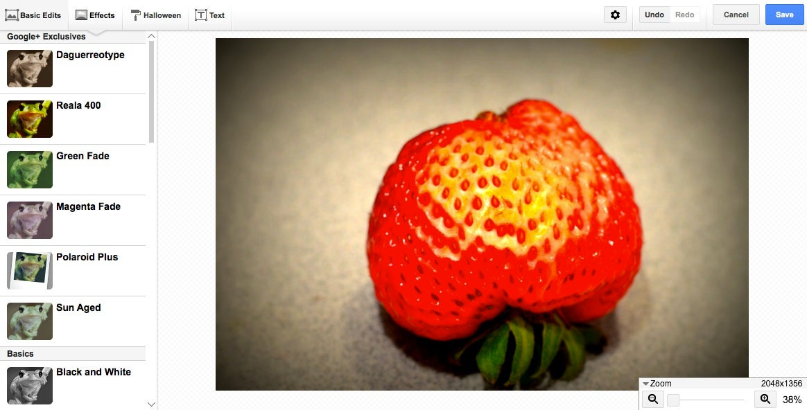 Google+ filters