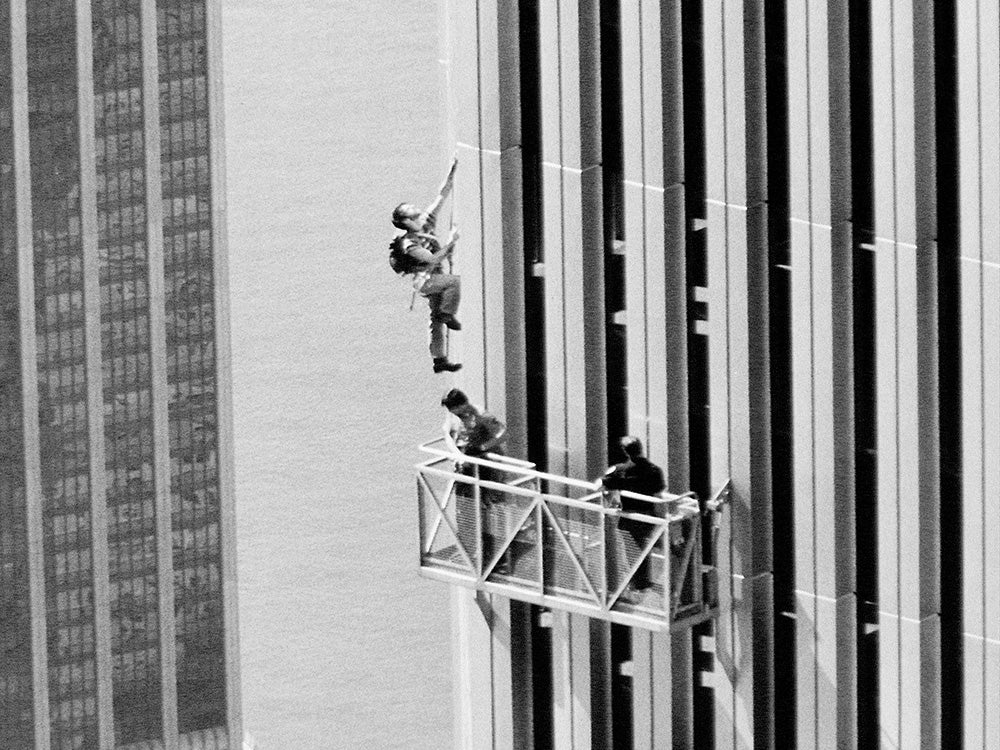 George Willig climbing twin towers