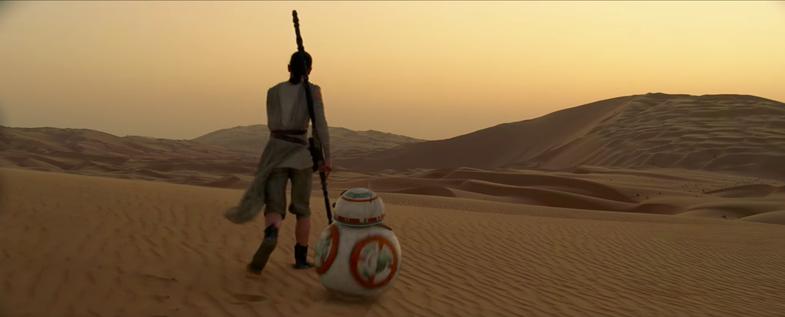 Star Wars shot on film