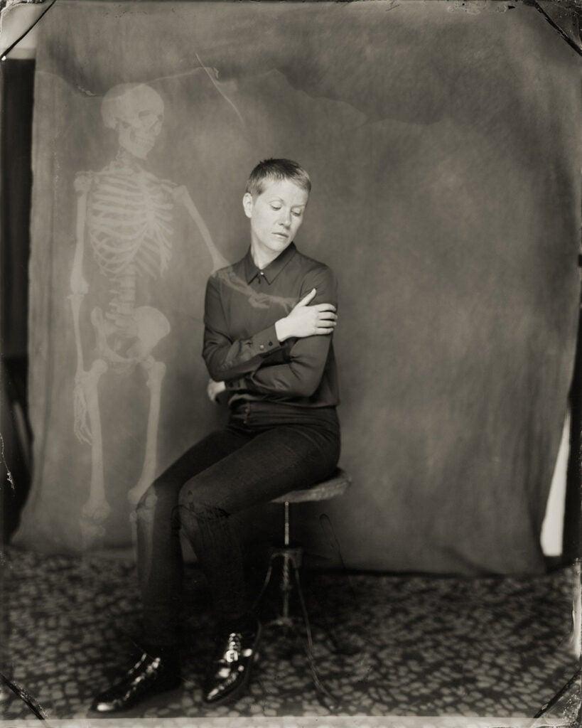 skeletal presence in photo