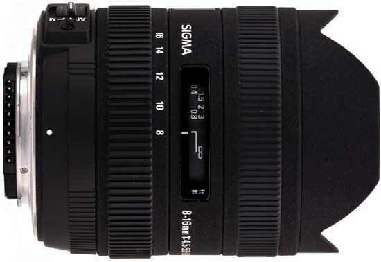 SIGMA 8–16MM F/4.5–5.6 DC HSM