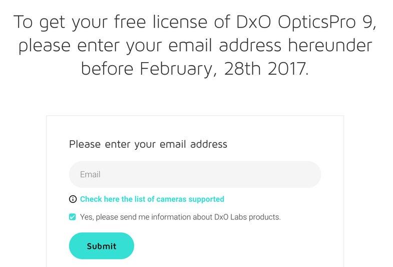 DXO Optics Pro 9 Free Software