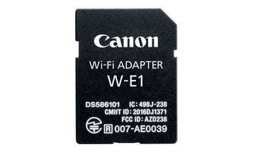 Canon's New W-E1 Wifi Adapter For DSLRs Looks Like An SD Card