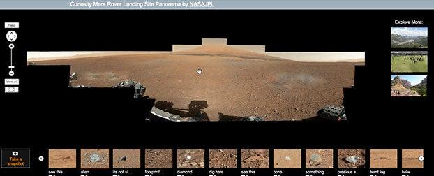 Mars Rover Gigapan