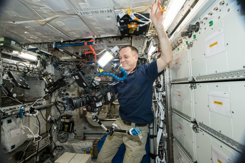 8k video in space