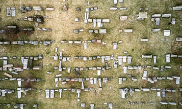 Capturing the Extensive Damage at a Jewish Cemetery in Philadelphia with a Drone