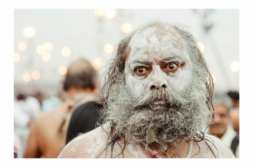 Man attending Maha Kumbh Mela