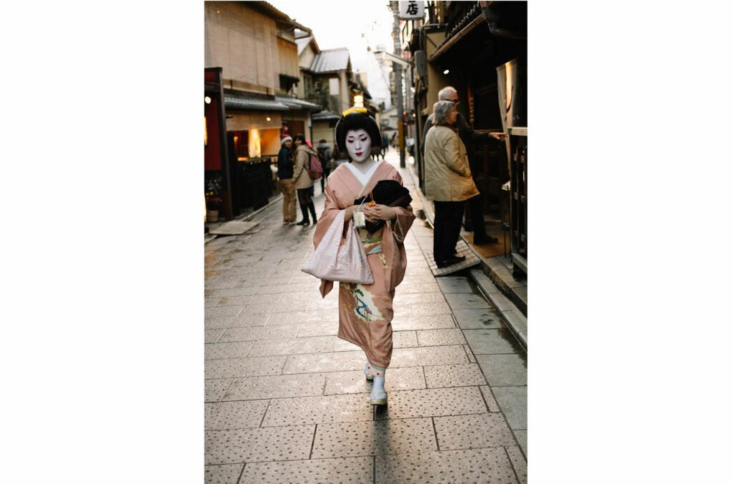 A painted Geisha