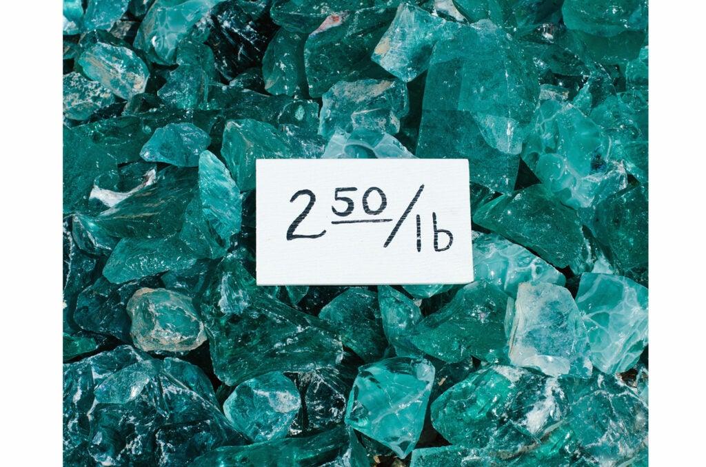 blue-green stones.