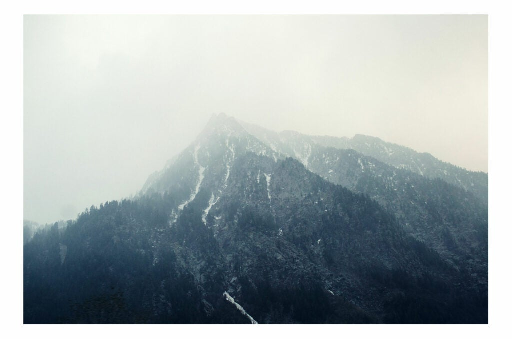 Misty mountaintops
