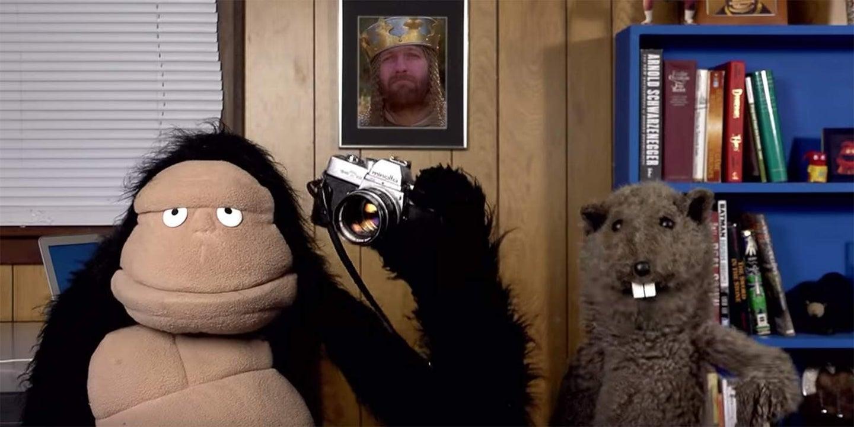 puppets explaining history of photography