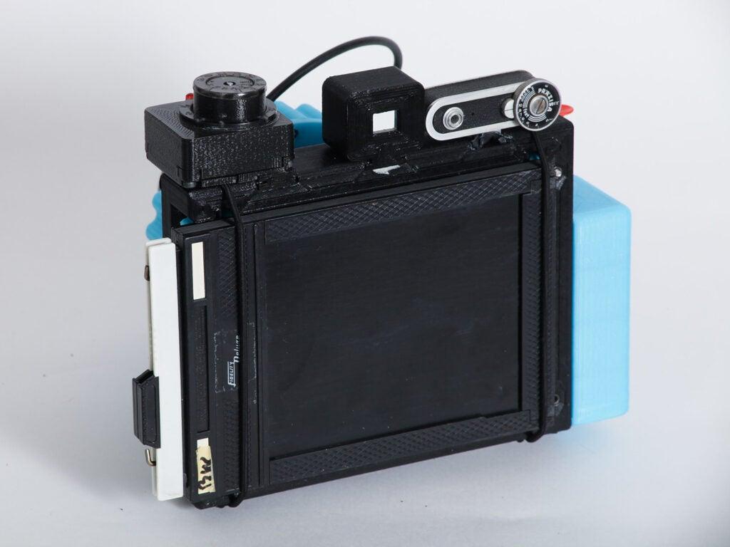Blue Cameradactyl OG 4x5 hand camera