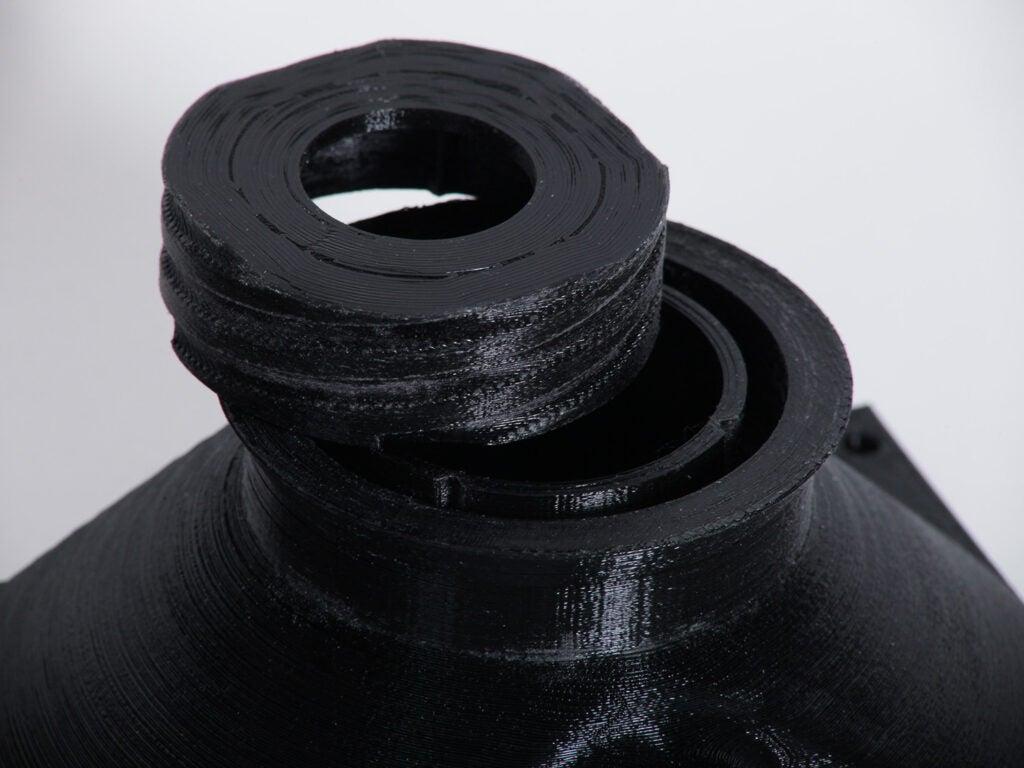 black 3D printed pieces