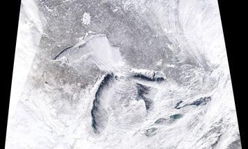 The polar vortex looks even colder from space