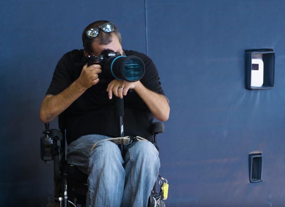 Working as a quadriplegic photographer