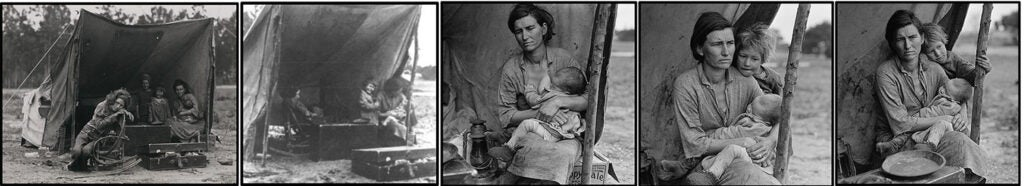 Migrant Mother montage