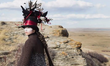 Watch photographer Meryl McMaster craft elaborate costumes for her upcoming photo series