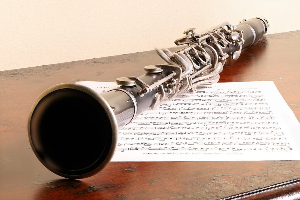 clarinet and sheet music