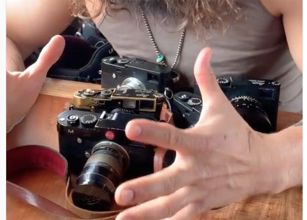 Jason Momoa Leica cameras