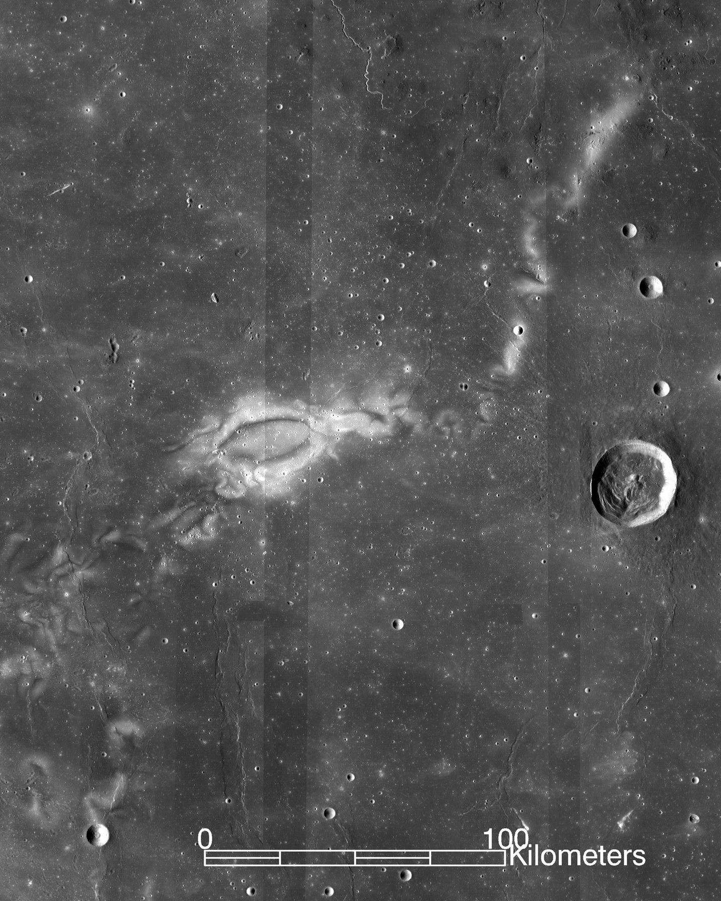 An image of Reiner Gamma on the moon