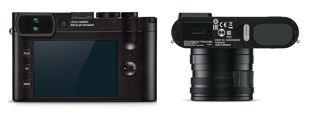 Leica Q2 camera back and top view