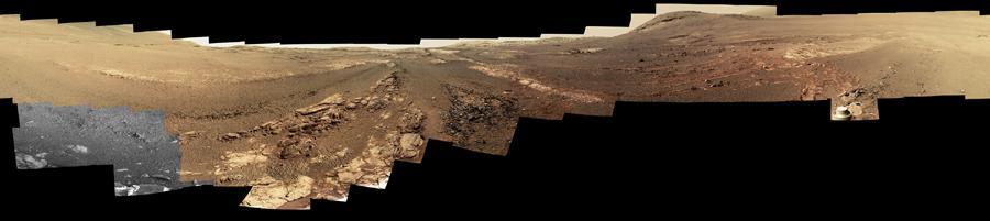 Mars rover panorama