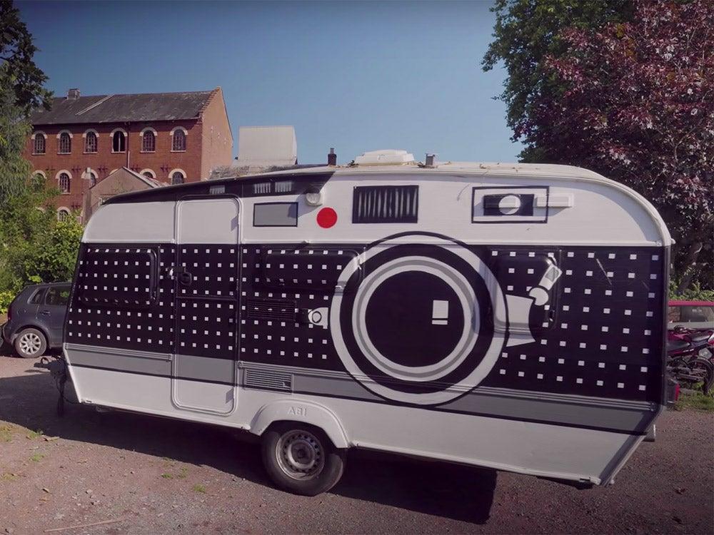 trailer painted like a camera