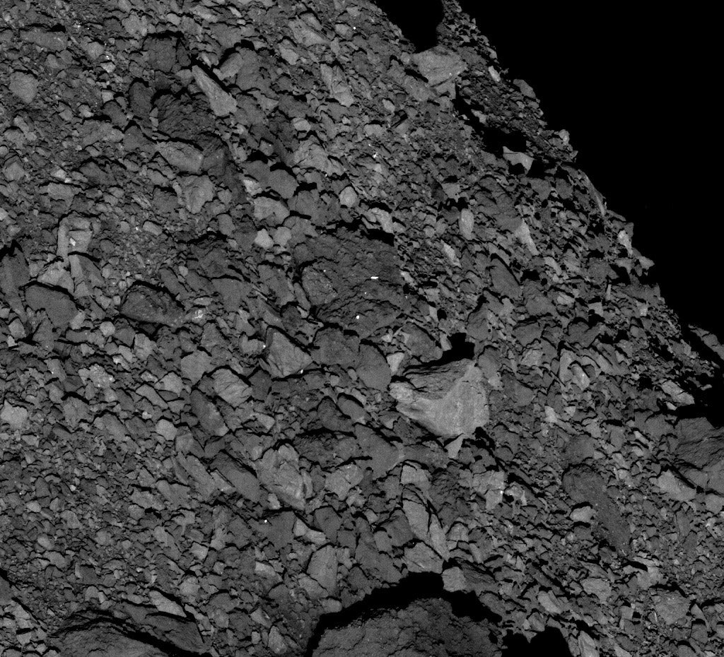 rocky surface of Bennu