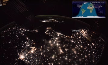 This 15 minute time lapse from space takes you around the world twice
