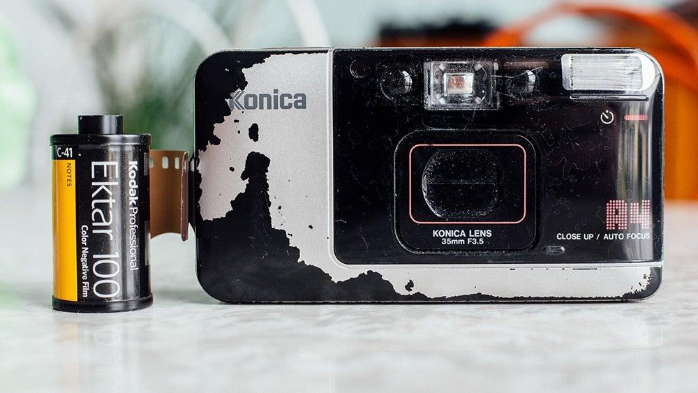 Konica A4 film camera