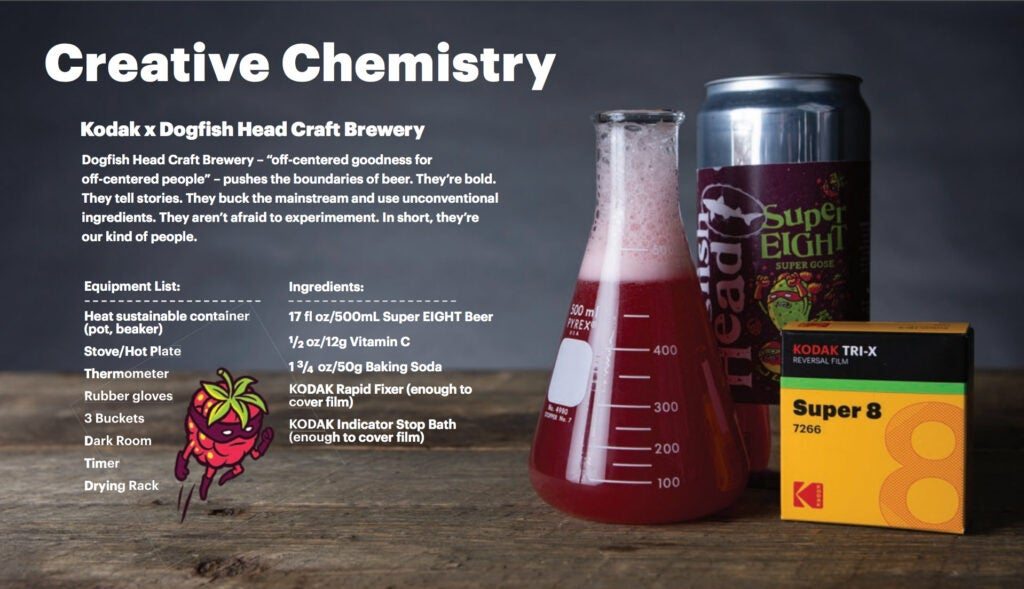 Kodak and Dogfish Brewery creative chemistry