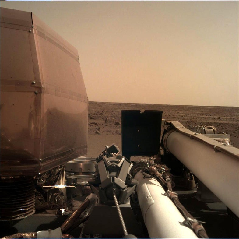 This is the first clear photo from NASA's InSight spacecraft