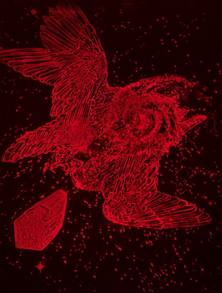 H2 hologram of birds