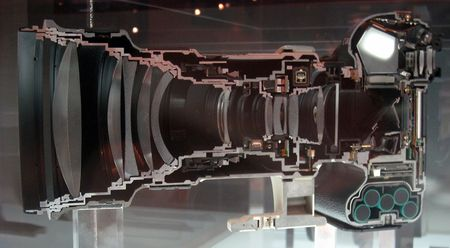 What Does a Canon 1Ds with 400mm Lens Look Like Cut in Half