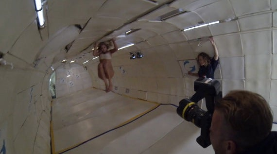 BTS at Sports Illustrated's Zero Gravity Swimsuit Shoot with Kate Upton