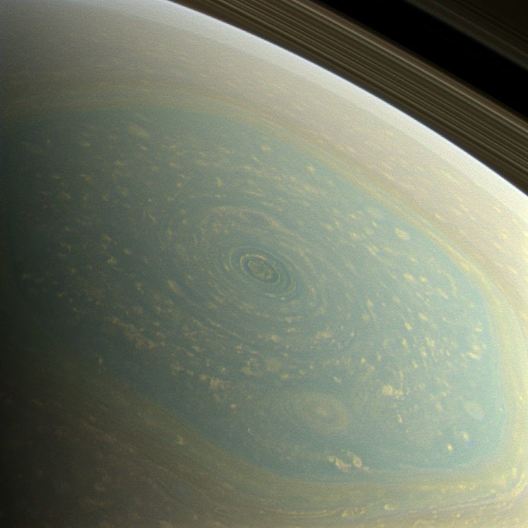 Meanwhile, In Space: A Hurricane On Saturn